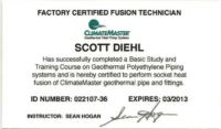 Scott Factory Certified Fusion Technician